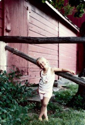 Young Krista, who still had a torso.